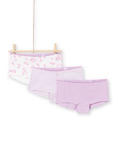 Set aus 3 sortierten Parma und Ecru Shorts für Mädchen MEFAHOTRIB / 21WH11B4SHY001