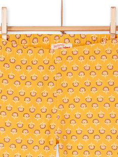 Gelbe Leggings für Kinder und Mädchen LYAPOELEG / 21SI01Y1CAL107