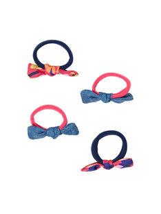 Set aus 4 sortierten Gummibändern für Kinder und Mädchen LYANAUELA1 / 21SI0173ELAF507