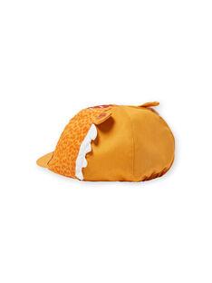 Gelbe Mütze mit Leopardenmuster für Baby-Jungen LYUTERCASQ / 21SI10V1CHAB106
