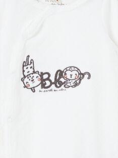 Schlafanzug weiße Geburt LOU1GRE4 / 21SF05H1GRE000