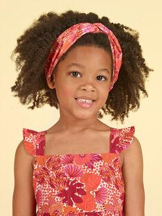 Kleid mit Blumendruck in Orange und Rosa LATEROB1 / 21S901V3ROB001