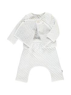Unisex babies' cotton rib knit set DOU1ENS3 / 18WF0513ENS099
