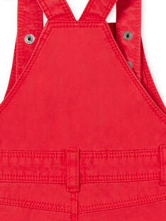 Kurze Latzhose rot Baby Junge LUCANSAC / 21SG10M1SACF505