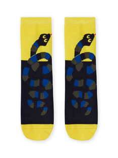 Gelbe und schwarze Schlangensocken für Jungen MYOKACHO / 21WI02I2SOQ106