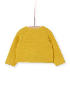 Baby Mädchen gelb und Lurex Strickweste LINAUCAR1 / 21SG09L2CAR106