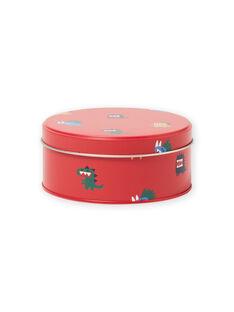 Rote Metall-Snackbox für Jungen mit Dinosaurier-Aufdruck MYOCLABOI / 21WI02G1D5OF521