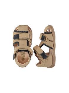 Sandalen aus Leder für draußen Babys Jungen FBGSANDHER / 19SK38C3D0E080