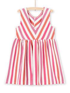Gestreiftes Kleid für Mädchen LATEROB4 / 21S901V2ROB001