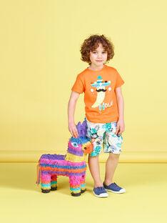 Oranges kurzärmeliges T-Shirt für Jungen, mit Chilis JOMARTI2 / 20S902P2TMCE405