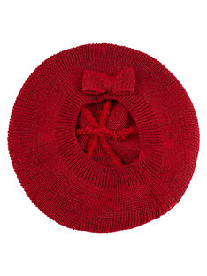 Rotes Baby-Barett für Mädchen, mit Lurex JYIVIBON / 20SI09D1BON330