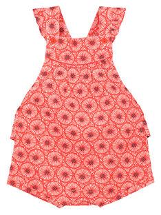 Bedruckter Baby-Strampelanzug für Mädchen FITOBAR / 19SG09L1BAR330