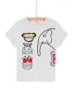 Graues und schwarzes T-Shirt für Jungen LOVITI6 / 21S902U2TMC943