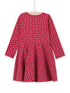 Baby Mädchen rotes Kleid mit blumigem Druck MAMIXROB3 / 21W901J1ROB511