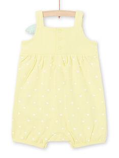 Gelber Strampler für Baby-Mädchen LEFIGRECIT / 21SH13C5GRE116
