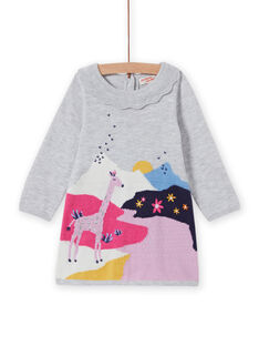 Baby Mädchen Fantasie Strickkleid MIPLAROB2 / 21WG09O2ROBJ920