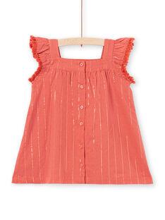 Baby Girl Braunes Kleid LITERROB1 / 21SG09V3ROBF519