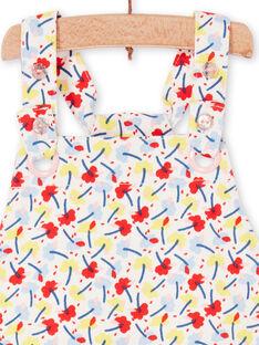 Rote und blaue Latzhose mit Blumendruck für Baby Mädchen LICANSAL / 21SG09M1SAL001