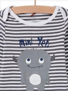 Baby Boy Langarm Streifen Bodysuit mit Yeti Design MEGABODYET / 21WH14C4BDLJ918