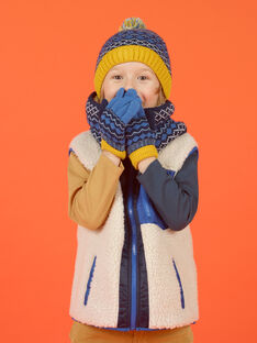 Blaue Quastenmütze Kind Mädchen Jacquard-Muster MYOGROBON6 / 21WI0268BON221