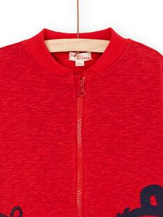 Rote melierte Weste für Jungen LOVIGIL / 21S902U1GILF520