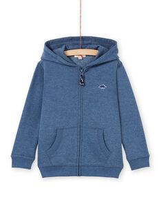 Jogging-Top - Junge Kind - blau meliert LOJOJOH3 / 21S90242JGH222