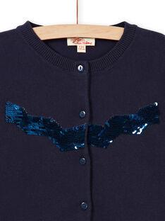 Marineblaue Weste mit Wendepailletten LAJOCAR1 / 21S90142D3C070