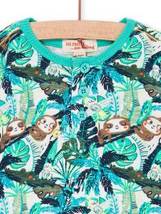 Blaues und grünes Baby Junge Laub Druck T-shirt LUVERTUN / 21SG10Q1TML001