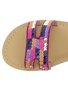 Girls' leather sandals CFSANDSEQ / 18SK35WED0E304