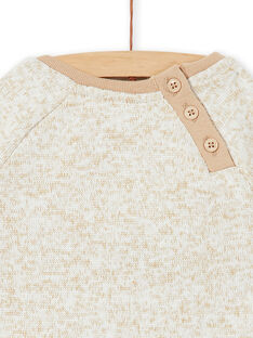 Sweatshirt eines kleinen Jungen mit beigem Heidekraut LUNOSWE / 21SG10L1SWEA010