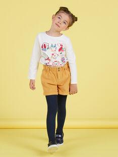 Baby Mädchen hohe Taille Shorts mit Senf Druck MAMIXSHORT / 21W901J1SHOB106
