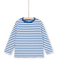 Wende-T-Shirt blau und weiß - Kind Junge LOBLETEE1 / 21S902J1TMLC208