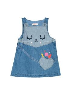 Baby-Jeanskleid für Mädchen FICOROB2 / 19SG0982ROB704