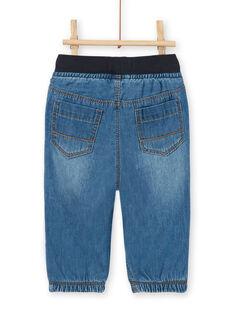 Dunkelblaue Baby-Boy-Jeans aus Baumwolle LUJOJEAN / 21SG1032JEAK005