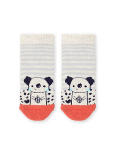Rot und beige gestreifte Socken für Baby-Jungen LYUPOECHOB2 / 21SI10Y2SOQA011
