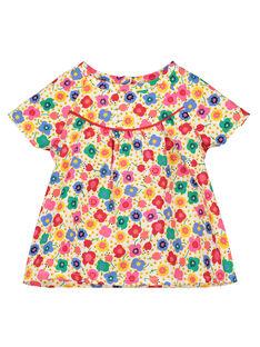Bedruckte Baby-Bluse für Mädchen FICOCHEM / 19SG0981CHE000