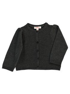 Baby girls' charcoal grey cardigan DIJOCAR8 / 18WG0938CAR944
