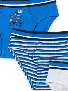 3er-Set blauer und grauer Kinderslips für Jungen LEGOSLIBLUE / 21SH1222D5LC231