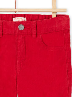 Rote Velours-Hose für Jungen MOJOPAVEL3 / 21W90212PANF508