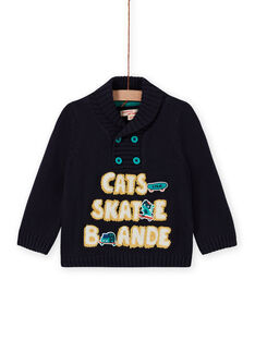 Baby Boy's Fancy Stickerei Trichter Hals Pullover MUTUPUL / 21WG10K1PULC234