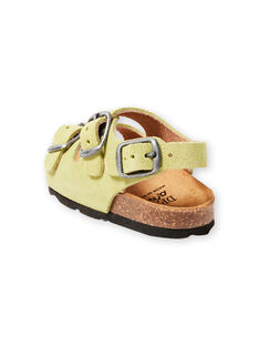 Baby Junge Einfarbig Grün Sandalen LBGNUVERT / 21KK3853D0E602