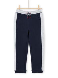 Marineblauer und grauer Jogginganzug für Jungen MOJOJOB1 / 21W90214JGB705