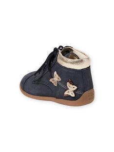 Baby Mädchen marineblaue Schmetterlingsstiefel MIBOTICLAS / 21XK3752D0F070