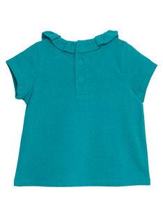 Türkisfarbenes Baby-Jäckchen für Mädchen JIJOBRA8 / 20SG09T3BRA621