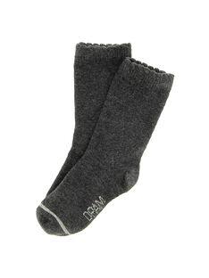 Baby girls' charcoal mid length socks DYIJOCHO6 / 18WI09J1SOQ944