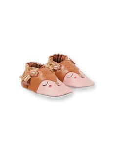 Orange und rosa Baby Mädchen Hausschuhe KNFBICHE / 20XK3714D3S400