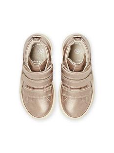 Kind Mädchen goldene High-Top-Sneakers MABASGOLD / 21XK3557D3F954