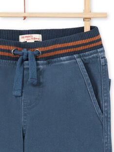 Blaue Hose für Jungen mit Taschen MOJOPAMAT3 / 21W90221PANC202