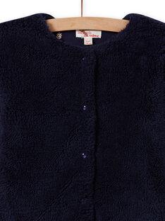 Wendbare Strickjacke aus Kunstpelz für Mädchen in Mitternachtsblau MAJOCARF1 / 21W90114CARC205