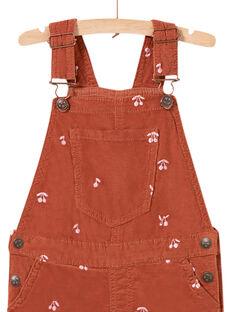 Kurze Samtlatzhose für Kind Mädchen mit Kirschenaufdruck MACOMSAC / 21W901L1SAC420